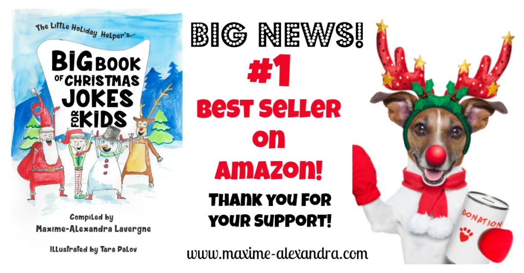 Big Book of Christmas Jokes for Kids is #1 Best Seller on Amazon